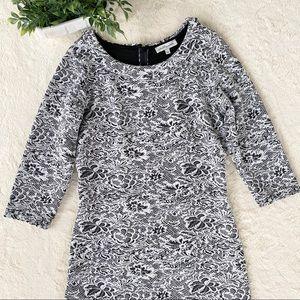 Shabby Apple black white textured vintage dress 16